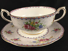 ROYAL ALBERT PETIT POINT CREAM SOUP AND SAUCER SET MINT CONDITION FREE SHIP Qty