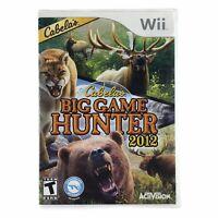 Cabela's Big Game Hunter 2012 (Nintendo Wii, 2011) Case & Disc