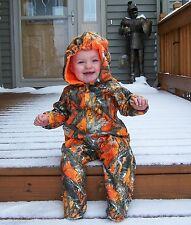 Camouflage Onesie Romper Blaze Orange Jumper 3 to 6 months