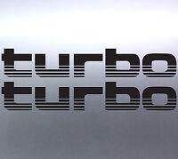 2 x TURBO Stickers Toyota Landcruiser 4WD 4x4 Sticker Australian made 100 Series