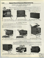 1924 PAPER AD Tourist Camp Cook Stove Oven Kits Folding Compact