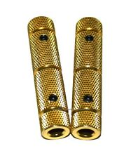 "2Pk Gold Pedal Grips Go Kart Racing Chassis 3/8"" Pedal Grip Kit Throttle & Brake"