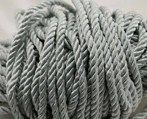 Twisted Drapery Cord GRAY - 5 YDS - New