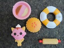 Lalaloopsy 5 Pieces Accesories Kitty Rolling Pin Pie Ice Cream Bowl Life Savers