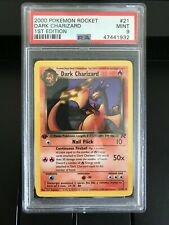 Pokemon Team Rocket PSA 9 MINT 1st Edition Dark Charizard #21