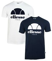 ellesse Italia Lucchese Logo Crew Neck T-Shirt Gym Sports Top Casual Tee