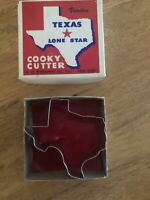 VINTAGE METAL TEXAS LONE STAR COOKIE CUTTER 3.75 WIDE/ PRE OWNED 🔥COOKY CUTTER