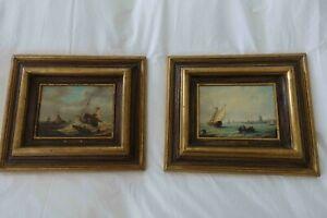 Set of framed prints of sailing ships