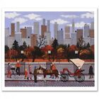 "Autographed Jane Wooster Scott Signed ""Manhattan Colors"" LE 12x10 Lithograph"