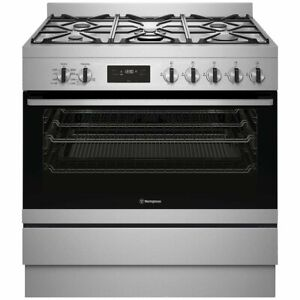 Westinghouse 90cm Freestanding Dual Fuel Oven/Stove Model WFE915SD RRP $2799.00