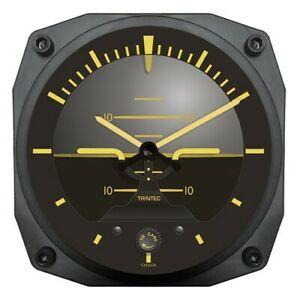 "Tintec 6"" Vintage Artificial Horizon Instrument Style Clock"