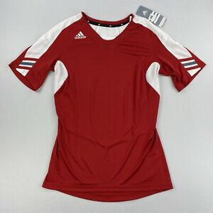 Adidas Womens Climacool Multi Sport Shirt Short Sleeve Red Size M