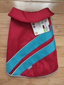 NWT Petco Good2Go Red/Blue Nylon Reflective Dog Sport Coat/ Jacket (2Y)