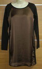 ZARA brown long sleeve mini dress size M