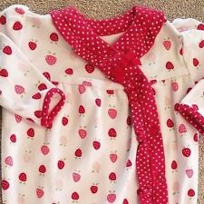 SWEET! GYMBOREE NEWBORN RED STRAWBERRY FOOTED SLEEP N PLAY OUTFIT REBORN