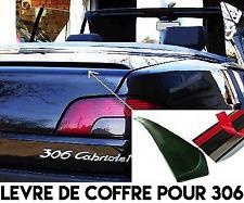 SPOILER BECQUET LEVRE LAME COFFRE pour PEUGEOT 306 Cabriolet 1993-02 16v XR XSI