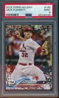 2018 Topps Holiday Jack Flaherty RC Card #145 #HMW145 PSA 9 Mint Rookie