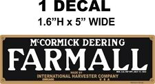 1 Farmall McCormick Deering IH  International Harvester Decal - Crisp and Sharp