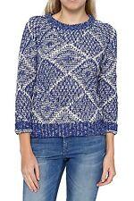 Hüftlange Damen-Pullover & -Strickware mit grober Strickart Norweger-Muster