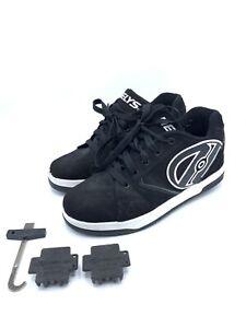 Heelys Propel 2.0 Skate Shoes Youth Size 7 Black / White Skater Skates