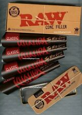 "12 RAW KING SIZE ""WIZ CONE"" KHALIFA Prerolled rolling paper+CONE FILLER+CADDY"