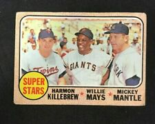1968 TOPPS BASEBALL CARD #490 MICKEY MANTLE/MAYS KILLEBREW BV $200 LOW GRADE!!