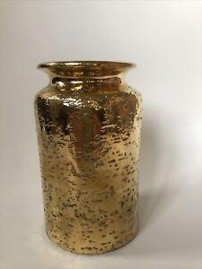 Bitossi Aldo Londi Vaso Ceramica Oro Vintage Design Bitossi Gold Ceramic Mcm
