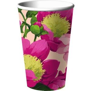 Spring Peonies Pink Peony Flower Floral Garden Party 16 oz. Paper Cups