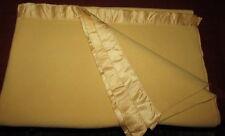 "Vintage NORTH STAR WOOLEN MILLS Wool Blanket w Satin Binding Twin Size 67"" x 87"""