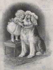 LIBRO pittura illustrazione SULTANO DOG Bambino Ragazza cuffia hat art print cc532