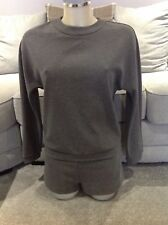 ZARA TRAFALUC WOMENS GREY JERSEY WINTER ALL IN ONE/JUMP/PLAYSUIT SHORTS SZ MED