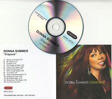 DONNA SUMMER Crayons 2008 UK 13-track promo test CD