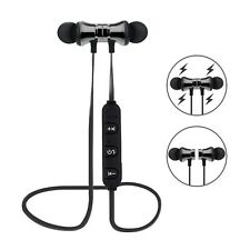 Bluetooth in Ear Headphones X11 Magnetic Wireless Headset Bass Beats Gunmetal