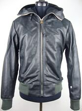 G-Star Raw Avalanche HDD BOMBER JACKET WOMEN LEATHER Giacca di Pelle Tg S Nuovo + Etichetta