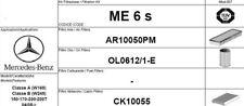 ME6S KIT 3  FILTRI TAGLIANDO MERCEDES CLASSE A W169  A150 70 KW 95 CV