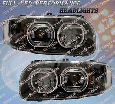 QSC Full LED Performance Black Right Left Side Headlights for Peterbilt 388 389