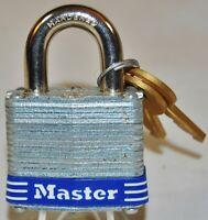 Master No.3 - 3D Laminated Padlock, 3/4-inch Shackle, 1-9/1 - New with 2 keys