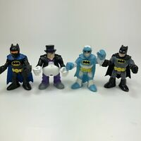 Lot of 4 DC Fisher Price Imaginext Figures Three Batman And One Penguin