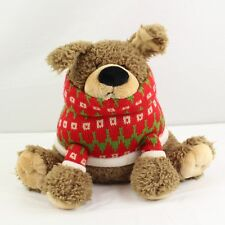 "Gund Peppermint Bark Dog 10"" Plush Christmas Sweater 4036043"
