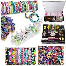 Colourful Rainbow Loom Rubber Bands Bracelet Making Kit Set DIY Craft gifts New!