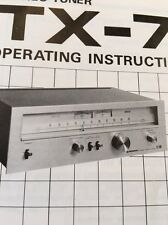 Pioneer TX-7500 Tuner Original Owners Manual  TX7500 Instructions with Schematic