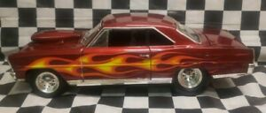 ERTL 1/18  1966 Chevy Pro Stock Nova - Candy Red/Flamed *ISCA #1* Loose