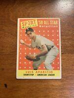 1958 Topps #483 All Star Luis Aparicio HOF WHITE SOX
