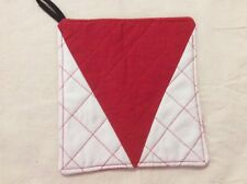 Quilted Pot Holder - football colours - Sydney Swans