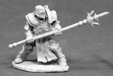 1x CRUSADER DEFENDER - WARLORDS REAPER miniature jdr rpg spear plate armor 03832