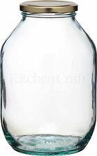 Traditional Large Half Gallon Twist Lid Glass Preserving Pickling Storage Jar