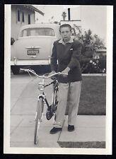 1950's English Racer BICYCLE Young Man Automobile ORIGINAL PHOTOGRAPH