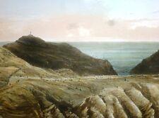 """Lithographie d'Eugène CICERI, """"Vue du sommet de Ladder-Hill, île Saint-Hélène"""""""