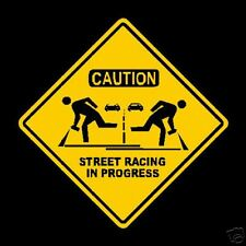 Street Racing in Progress Stickers Rally GP Old Vintage