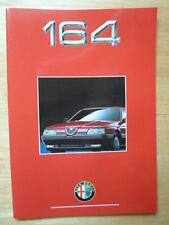 Alfa Romeo 164 gama 1991 mercado francés Prestige Folleto-Quadrifoglio 3.0 V6